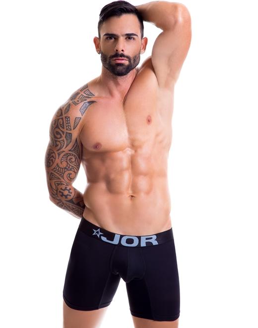 Bokserki męskie Jor - Bassic Long Boxer Black czarne